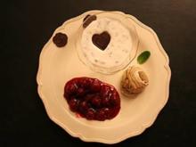 Stracciatella–Quark–Creme mit Eis an Obst - Rezept