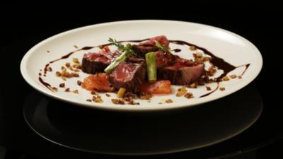 Fleisch - Rinderfilet mit Schokososse - Rezept