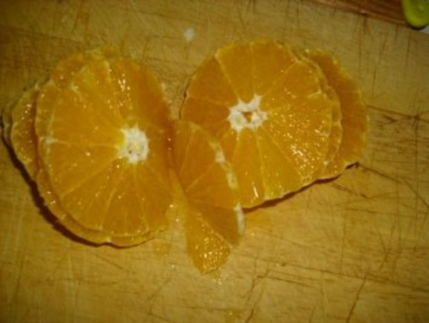 Orangen-Chicorée-Salat mit Hähnchenspießen - Rezept - Bild Nr. 4