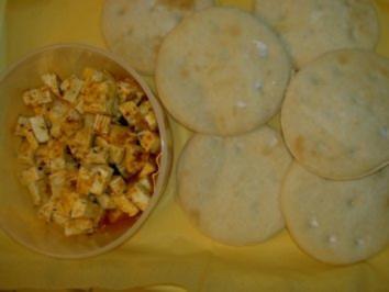 Party  -  Fladenbrot und Schafskäse - Rezept