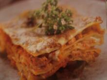 Lasagne mit Gorgonzolasauce - Rezept