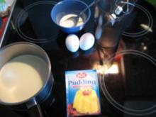 Vanillepuding mit Eischnee - Rezept