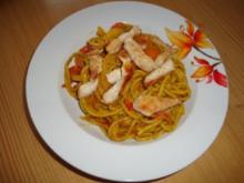 Curry-Nudeln mit Putenfleisch - Rezept