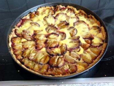 Pflaumenkuchen mit Quarkdecke - Rezept