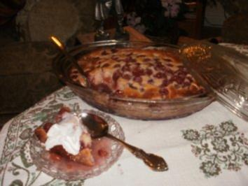Pudding- Kirschen Pudding Kuchen - Lecker und Einfach - Rezept