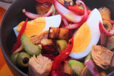 Auberginen-Thunfisch-Salat - Rezept