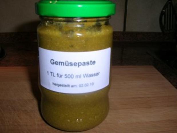 Gemüsepaste - selbstgemacht - als Grundlage für viele leckere Gerichte - Rezept