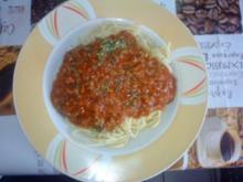 Spaghetti Bolognese mit extra viel Fleisch - Rezept