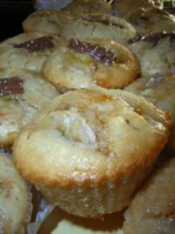 Muffins: Bananen-Mandel-Muffins - Rezept