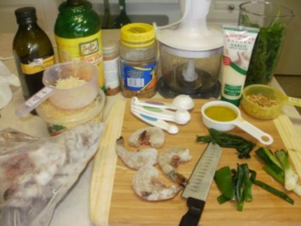 Shrimp-Texas Pesto Shrimp mit Reis - einfach -fertig in  10 Minuten - fettarm - Rezept - Bild Nr. 3