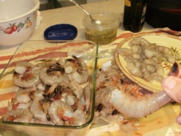 Shrimp-Texas Pesto Shrimp mit Reis - einfach -fertig in  10 Minuten - fettarm - Rezept - Bild Nr. 5