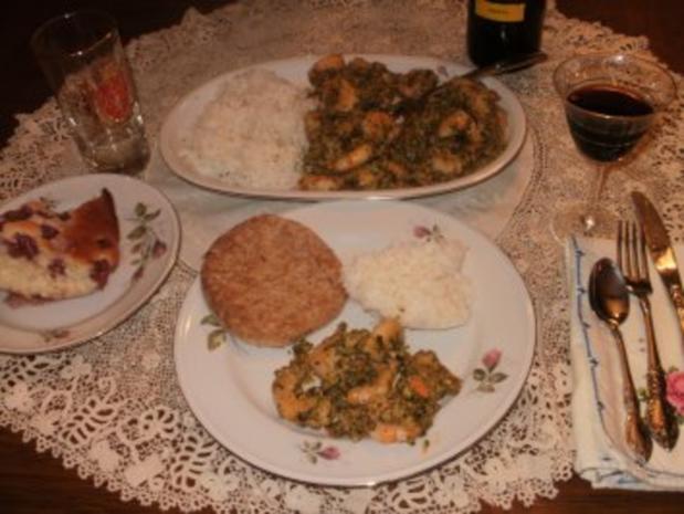 Shrimp-Texas Pesto Shrimp mit Reis - einfach -fertig in  10 Minuten - fettarm - Rezept - Bild Nr. 2