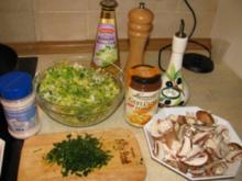 Huhn mit Pilze und Nudeln - Rezept
