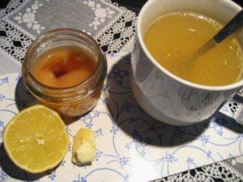Rezept: Heiße Zitrone - gut bei Erkältung...