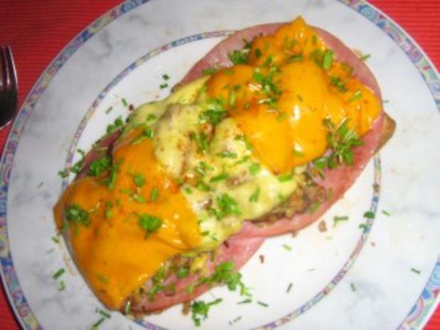 Rührei mit Pfifferlingen auf Toast  - überbacken - Rezept - Bild Nr. 7