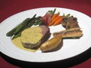 Chateaubriand an Sauce Bearnaise mit Gemüseauswahl und Rosmarinkartöffelchen - Rezept