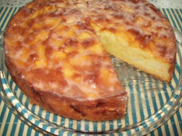 Apfelkuchen glasiert - Rezept