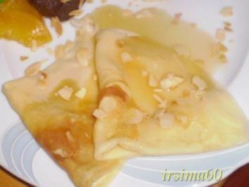 Crepe hauchdünn mit Amarettosirup - Rezept