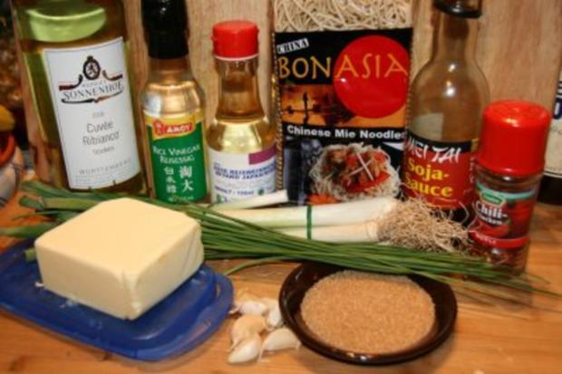 Nudeln: chinesische Knoblauch-Nudeln - Rezept - Bild Nr. 2