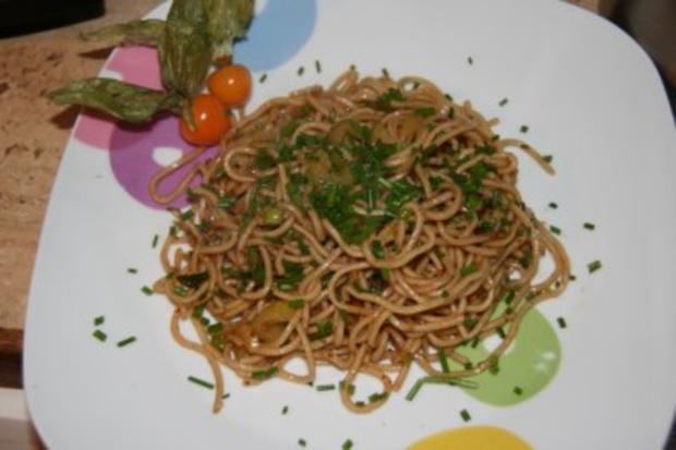 Nudeln: chinesische Knoblauch-Nudeln - Rezept - Bild Nr. 5