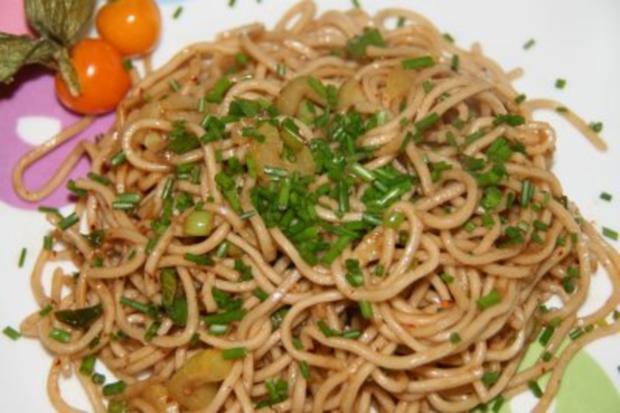 Nudeln: chinesische Knoblauch-Nudeln - Rezept