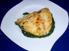 Spinat-Kartoffel-Auflauf mit einer Eier-Käse-Haube - Rezept