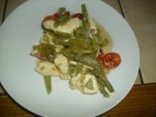 Schneller Bohnen-Mozzarella-Salat mit Speck - Rezept
