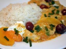 Putengeschnetzeltes in Curry-Frucht-Soße - Rezept
