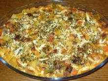 Auflauf herzhaft - Kartoffel-Gemüse-Auflauf mit Leberkäse - Rezept