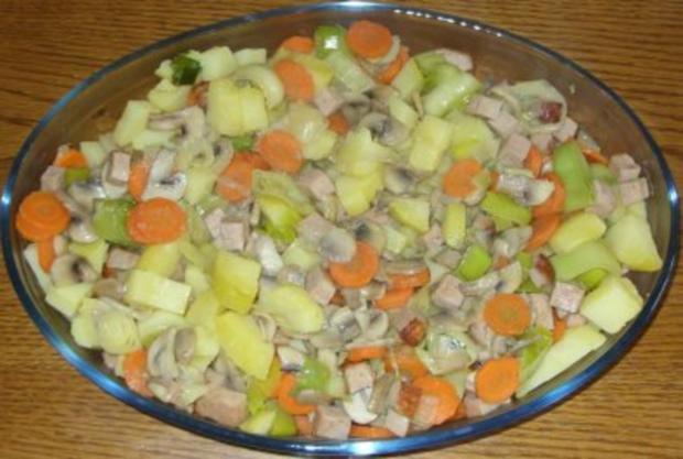 Auflauf herzhaft - Kartoffel-Gemüse-Auflauf mit Leberkäse - Rezept - Bild Nr. 2