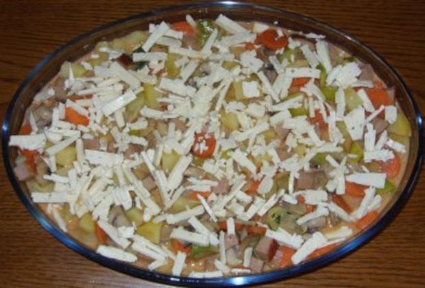 Auflauf herzhaft - Kartoffel-Gemüse-Auflauf mit Leberkäse - Rezept - Bild Nr. 3