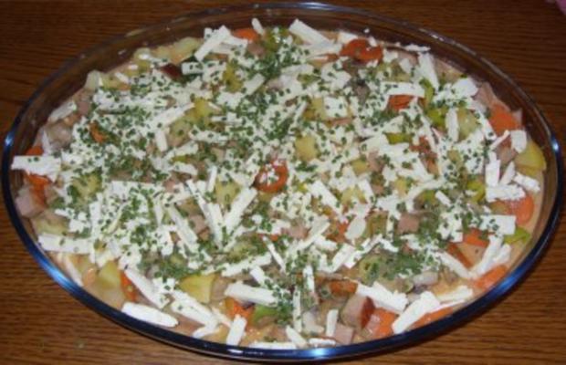 Auflauf herzhaft - Kartoffel-Gemüse-Auflauf mit Leberkäse - Rezept - Bild Nr. 4