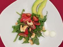Avocadosalat mit Pfeffer-Schokoladen-Dressing - Rezept