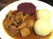 Fleisch:   GULASCHTOPF   sehr pikant gewürzt - Rezept