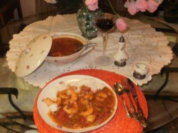 Shrimp Creole - Kommt von Louisiana den schwarzen Sklaven - Ich koche das erst seit 3 Jahren und liebe dieses Essen - Rezept