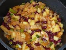 Pfannengericht: Kartoffel-Bohnen-Ananas - Rezept