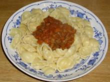 Pasta mit Bolognesesauce - Rezept