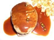 Filetsteaks mit Rotwein-Pfeffer-Sauce - Rezept