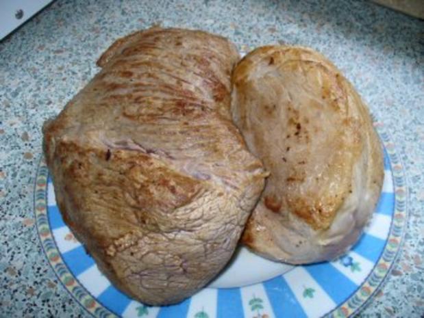 Sonntagsbraten halb Rind - halb Schwein - Rezept