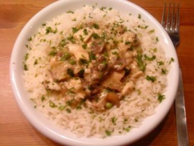 Geflügelragout mit Reis - Rezept