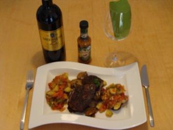 Lammrücken mit Gemüse - Rezept