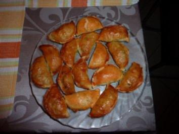 Blätterteigtaschen mit Spinat - Rezept