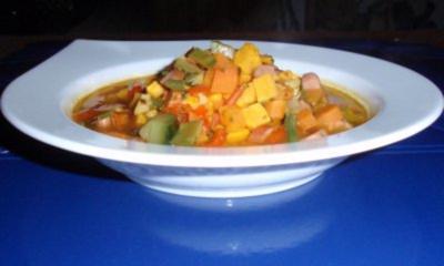 Süßkartoffel-Gemüse-Suppe - Rezept