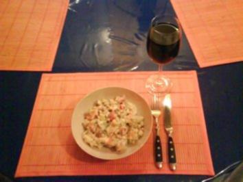 Salat: Bunter Kartoffelsalat - Rezept