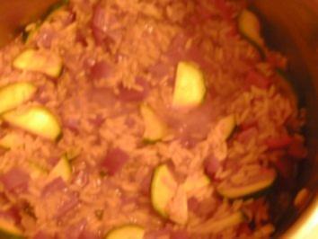 Roter Gemüsereis - Rezept