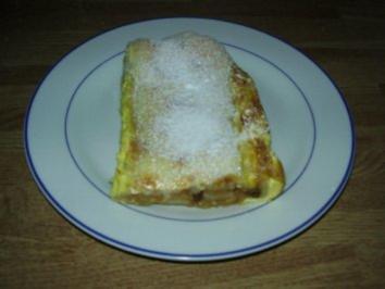 Blätterteig-Apfelstrudel mit Sahneguß - Rezept