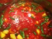 Tomaten-Bohnen-Suppe - Rezept