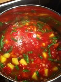 Rezept: Tomaten-Bohnen-Suppe