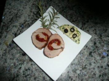 HAUPTGERICHT/FLEISCH:Schweinefilet gefüllt und Olivenbutter - Rezept