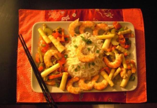 Sichuan Shrimps an Bambussprossen - Rezept
